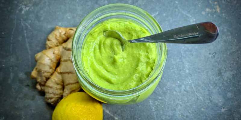 Easy to make oil-free Green Goddess vegan dressing.