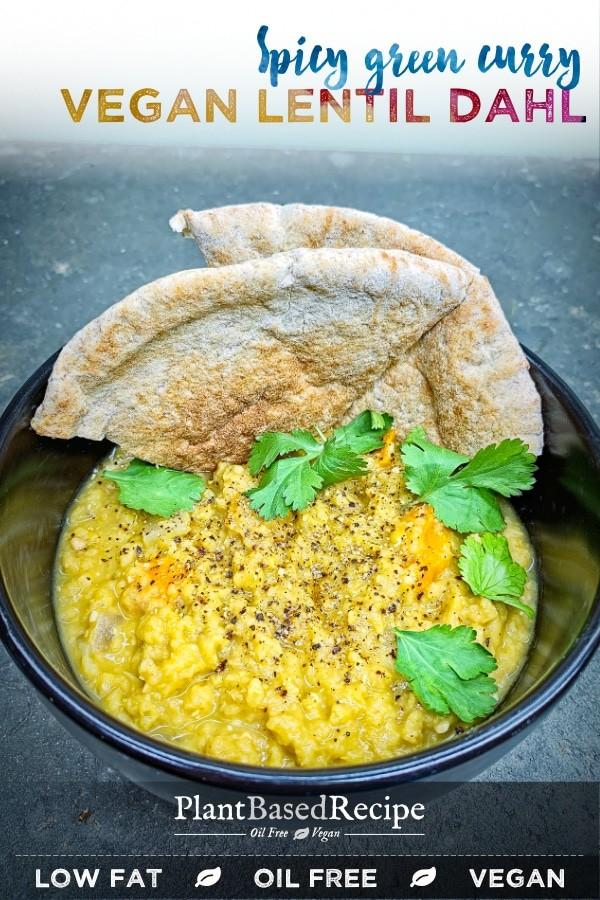 Vegan lentil dahl made in the Instant Pot.