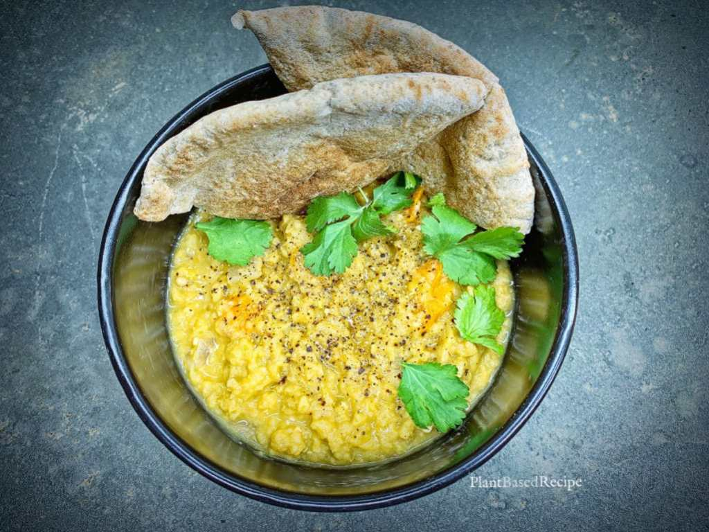 Vegan spicy curry lentil dahl recipe