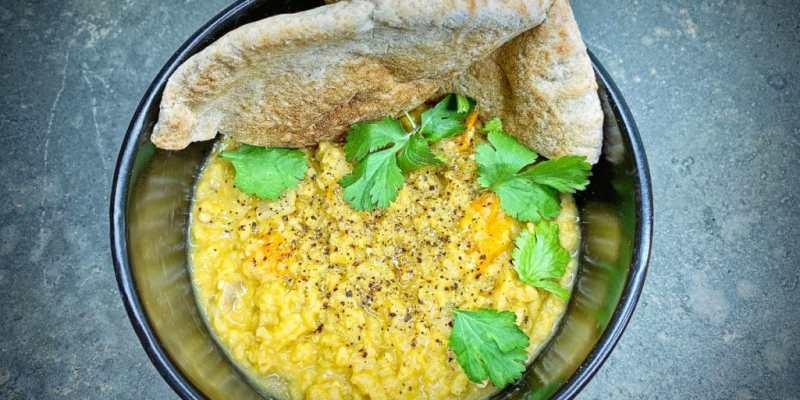 Vegan spicy curry lentil dahl recipe