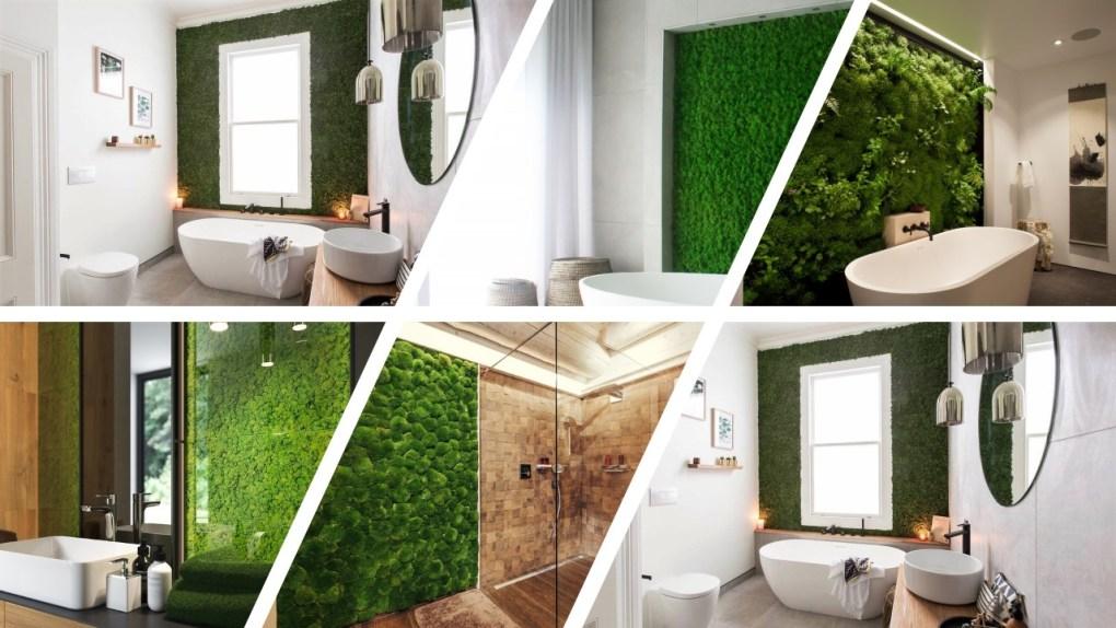 moswand badkamer - moswand inspiratie in de badkamer