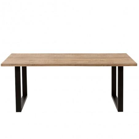 table a manger jona bois de manguier naturel noir