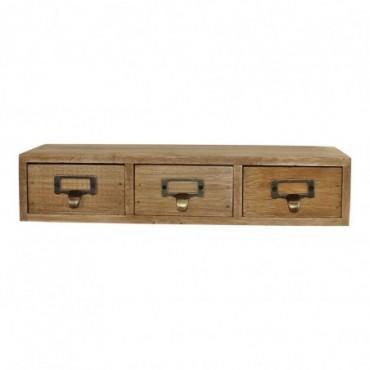petit meuble rustique a 3 tiroirs en bois