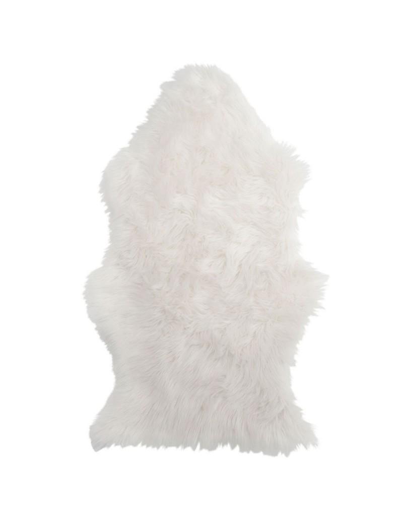 tapis imitation fourrure blanc de marque j line