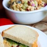 Best Chick'n Salad Ever Vegan Plant Based Recipes Planted365.com Planted 365 Lisa Viger Chicken Salad