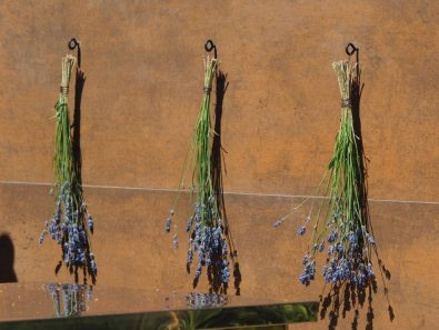 Rusted iron, and drying flowers, from the Entertaining Garden by Anca Panait at the RHS Hampton Court Palace Flower Show 2018