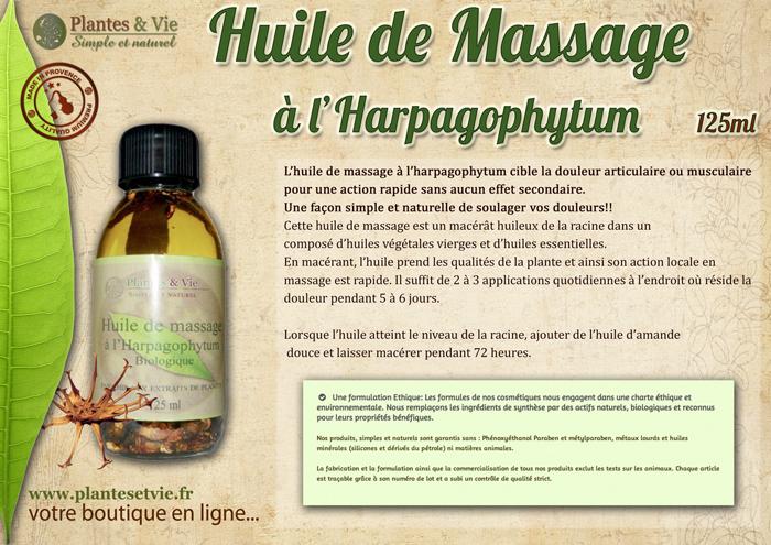 Huile de Massage Harpagophytum