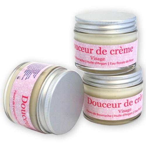 Crème visage Argan Bourrache Rose