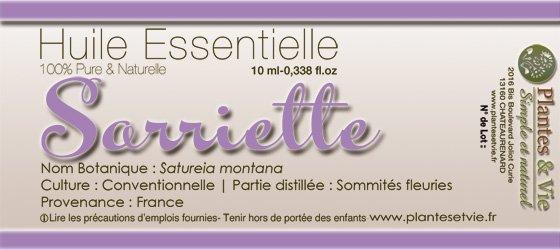 Huile Essentielle de Sarriette