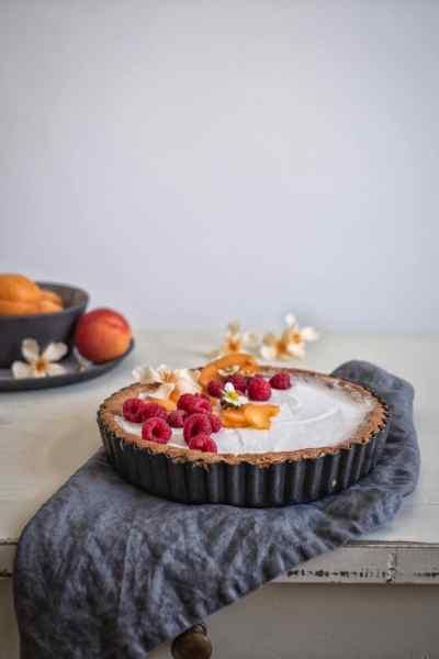 Glutenarme / Glutenfreie Tarte mit Frischkäsesahne und Sommerfrüchten