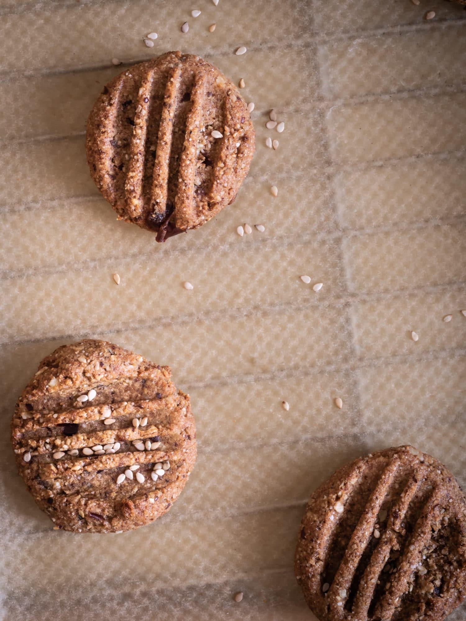 Kekse backen : Tahina Kardamom Kekse – Nussfrei & glutenfrei