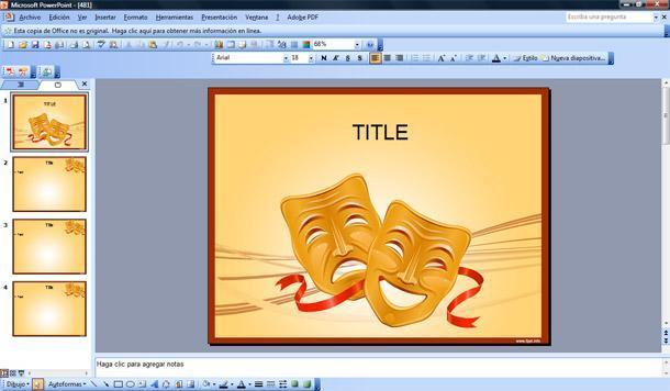 Teatro Powerpoint Template Plantillas PowerPoint Gratis