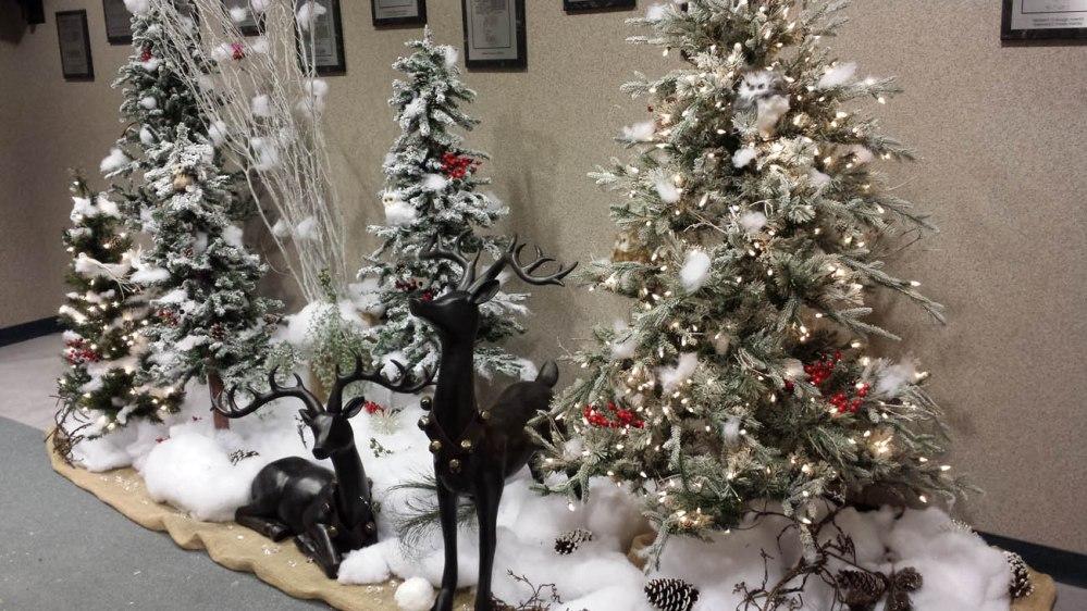 winter wonderland with deer