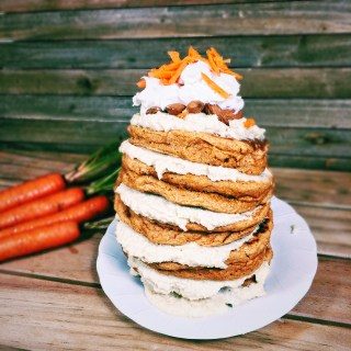 Vegan Carrot Cake Pancakes With Cream Cheese Frosting
