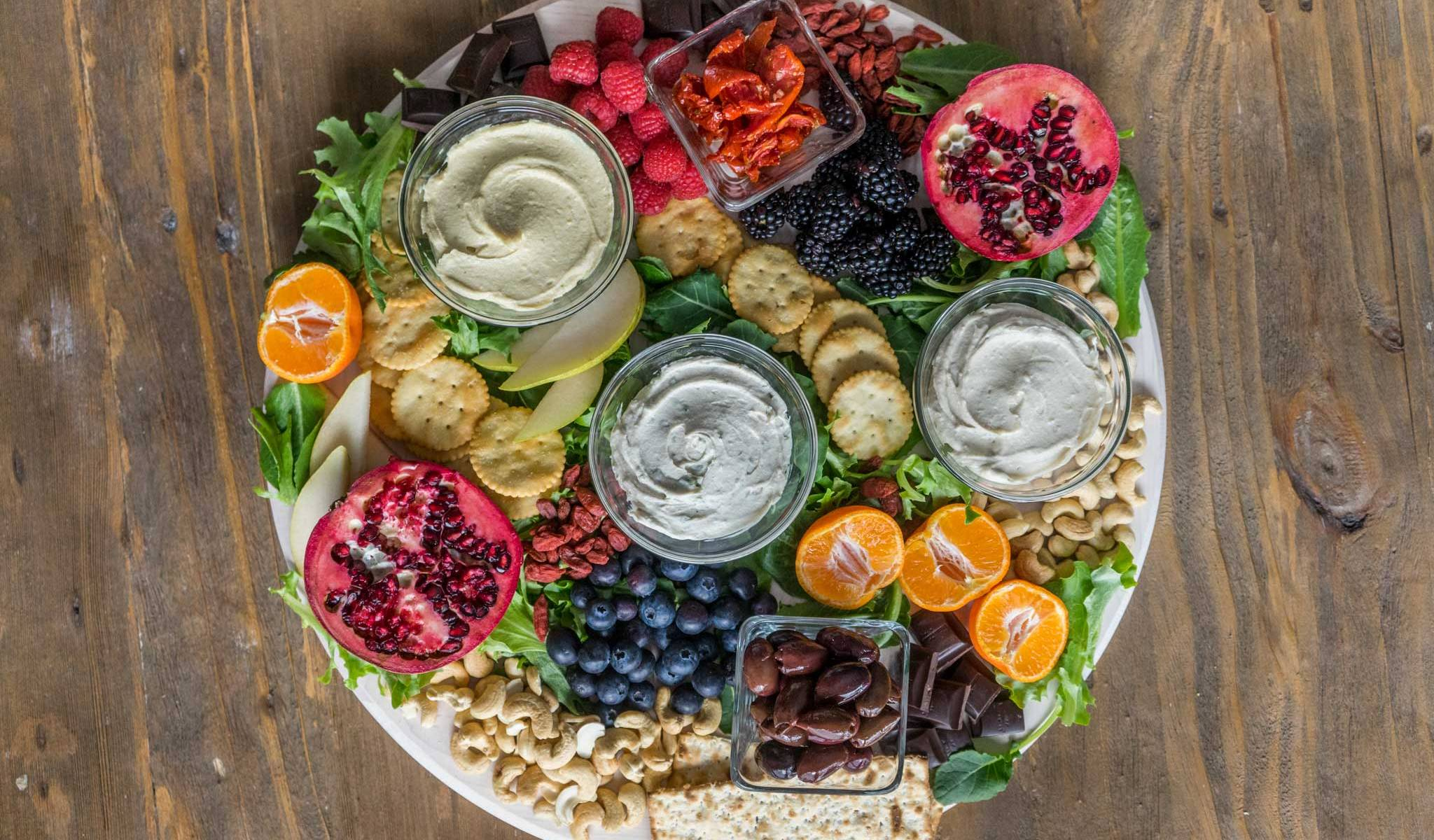 Vegan Nut Cheese Spread with Fruit