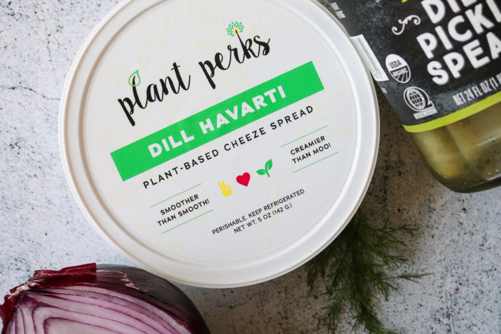 vegan dill pickle dip