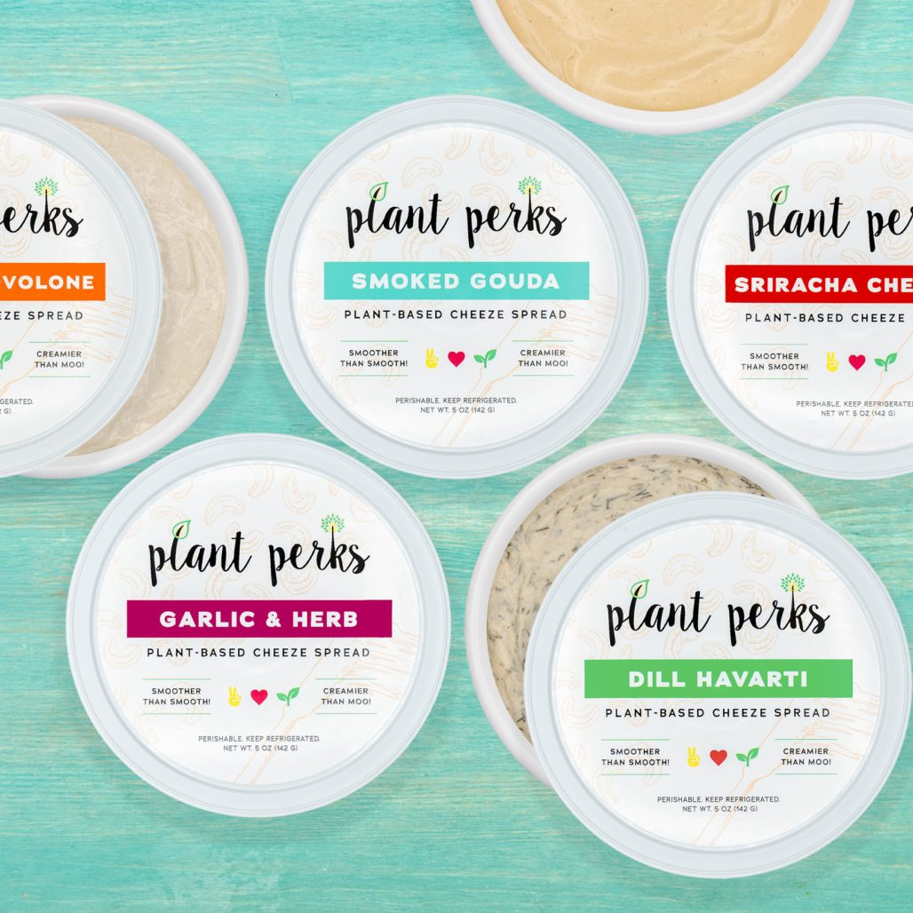 Plant Perks Vegan Cashew Cheese Containers