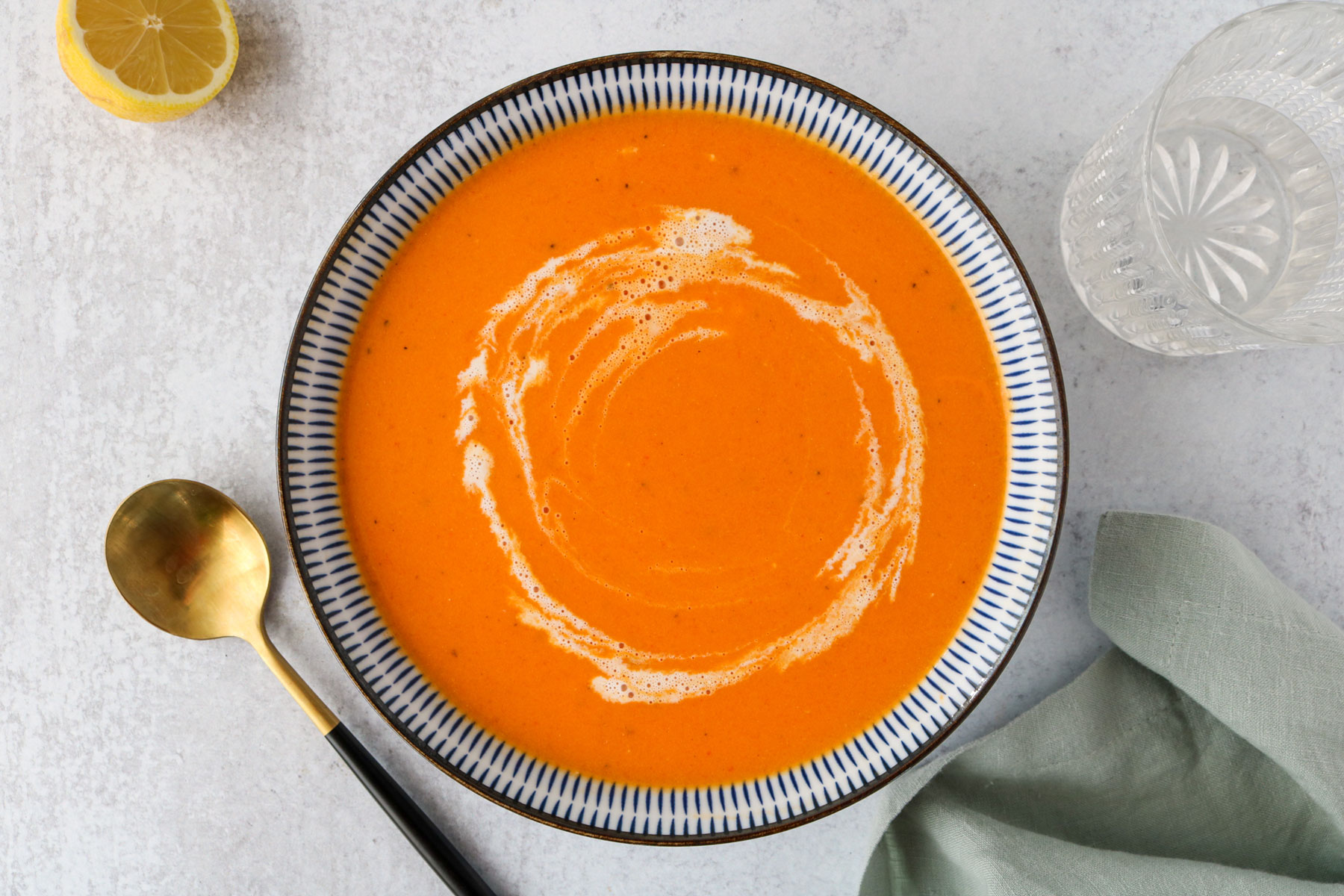Creamy Vegan Roasted Red Pepper Soup Recipe