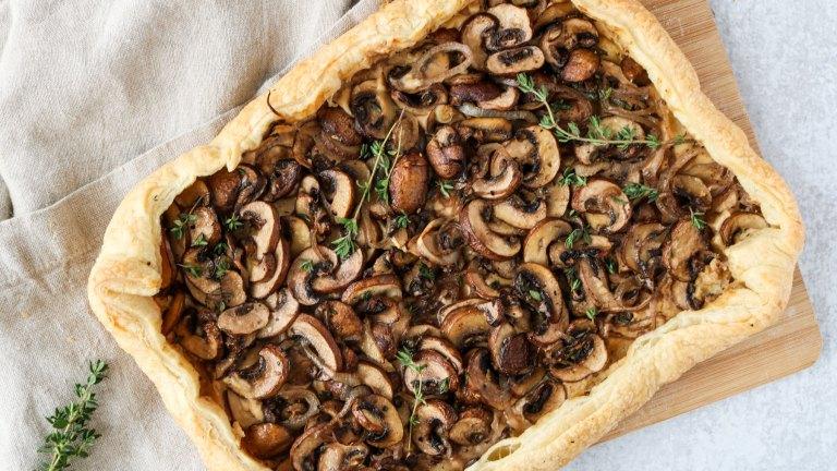 Mushroom & Thyme Vegan Tart Recipe