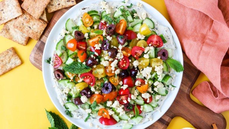Veggie & Herb Mediterranean Vegan Dip Recipe