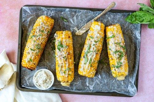 garlic & herb skillet corn