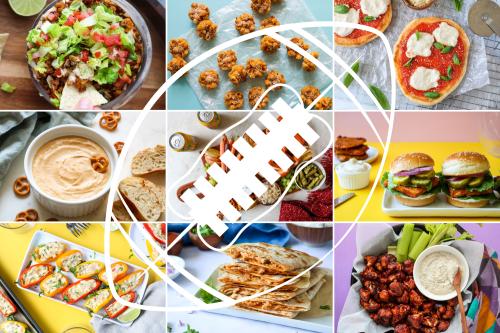 Vegan Football Snacks Recipes Collage