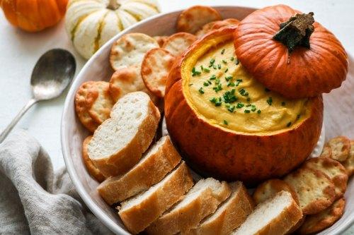 vegan pumpkin fondue