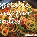 vegetable kung pao zoodle recipe~ easy weeknight meal