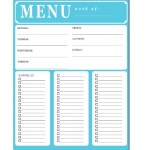 weekly menu & shopping list {free printable}