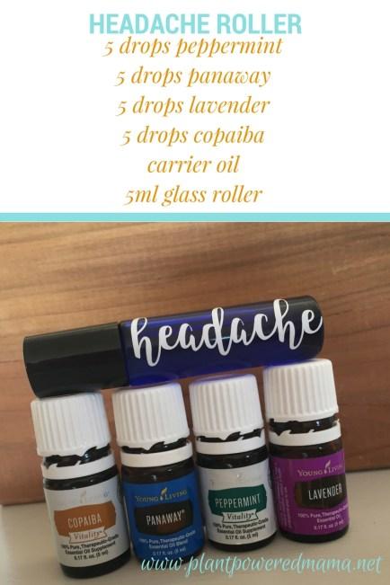 Natural Headache Roller-PlantPoweredMama.net