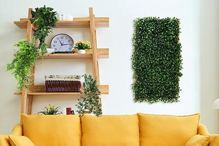 artificial framed boxwood decor