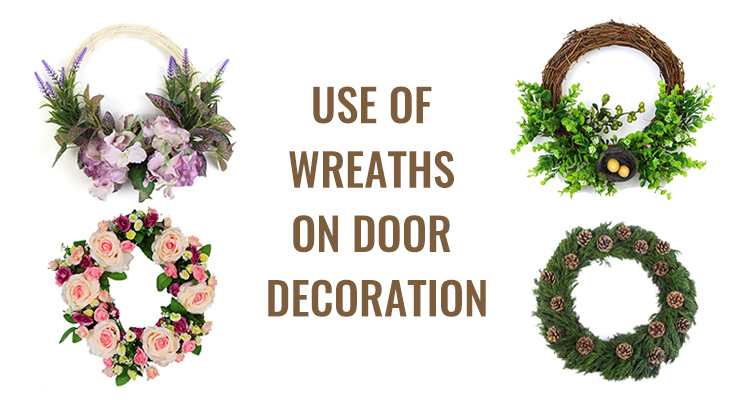 Sunwing artificial wreaths for the door decor