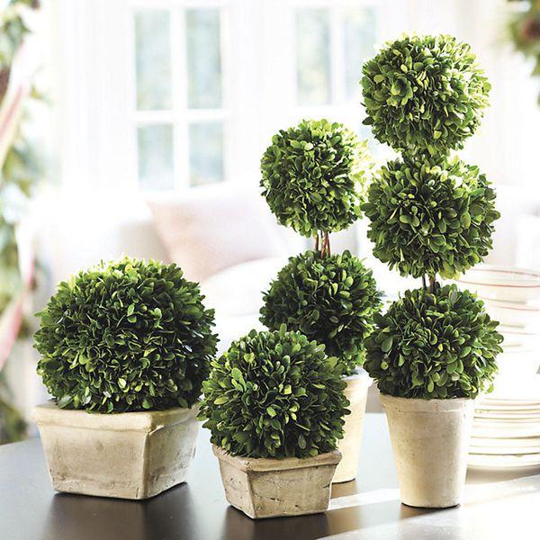artificial boxwood topiary balls