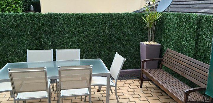 A001 artificial boxwood hedges application