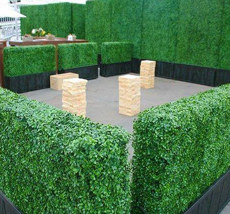 artificial boxwood hedge planters milan landscape