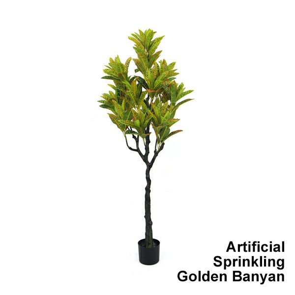 artificial-sprinkling-golden-banyan