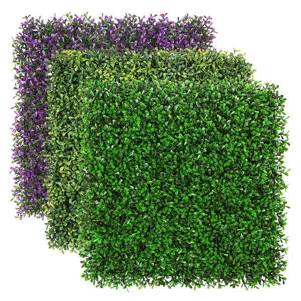 color options for artificial boxwood hedges