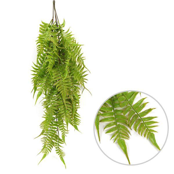 faux hanging fern plants