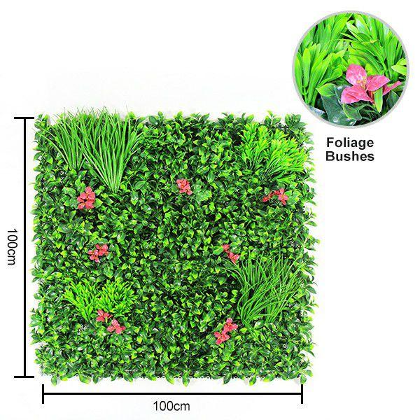 Artificial wall plants 1m x 1m