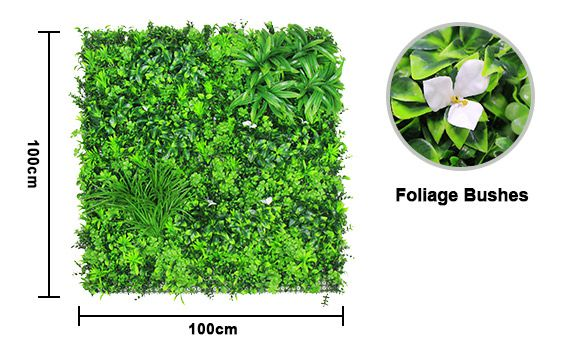 Faux Foliage Wall with Flowers