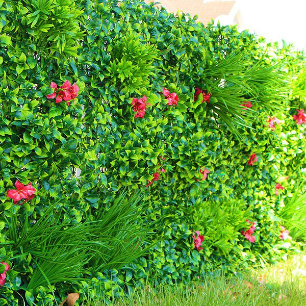 Landscaping Artificial Plants Wall with Flowers