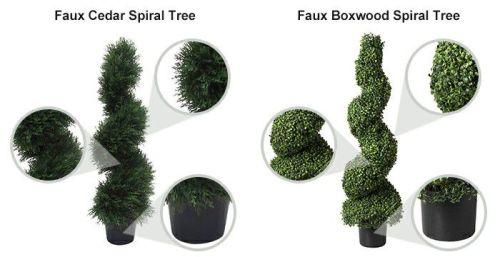 artificial boxwood cedar spiral tree
