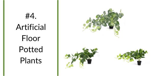 trendy artificial floor potted plants