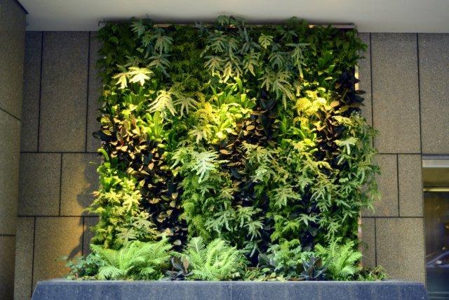 Florafelt Vertical Garden. Downtown San Francisco. Design: Chris Briabch