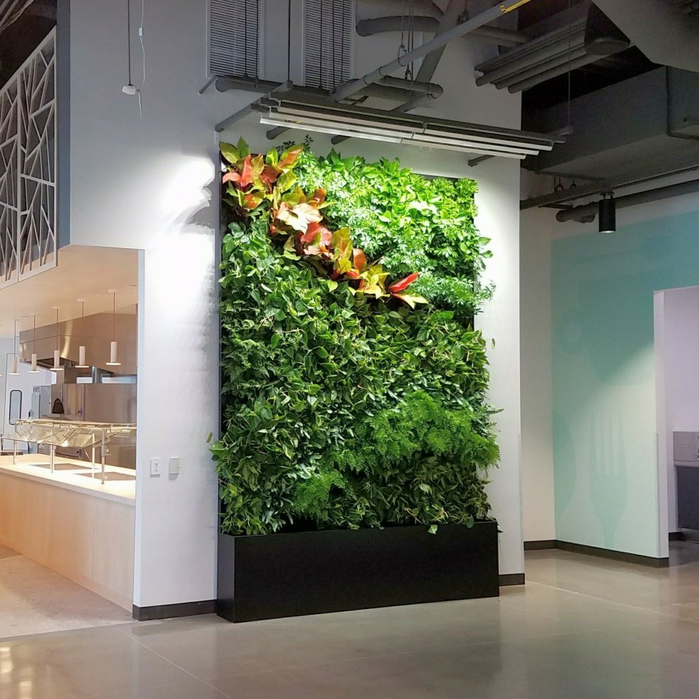 Folorafelt Vertical Garden for Google Campus by Planted Design.
