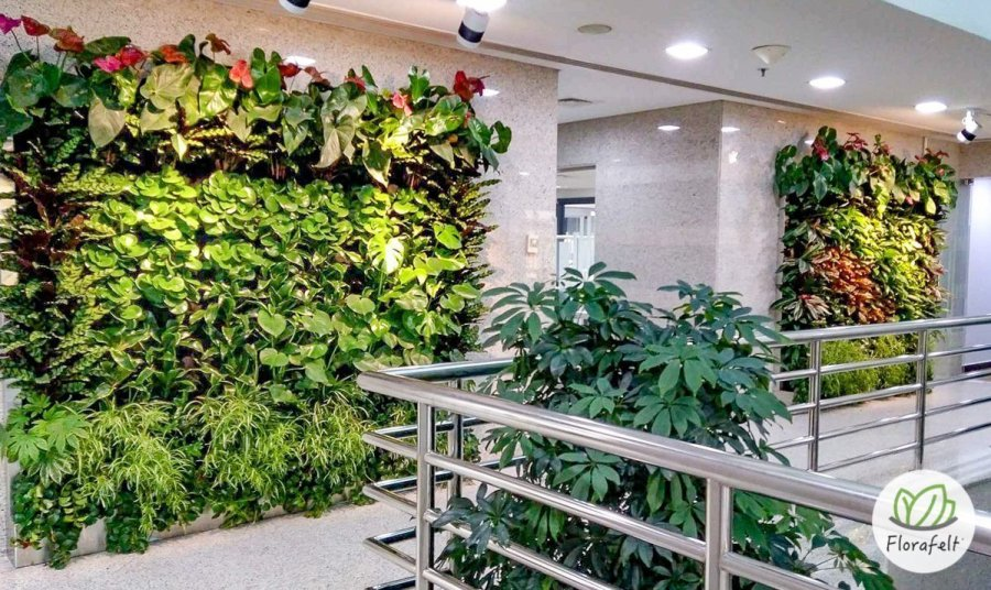 Florafelt living walls by Terragarden Kuwait.