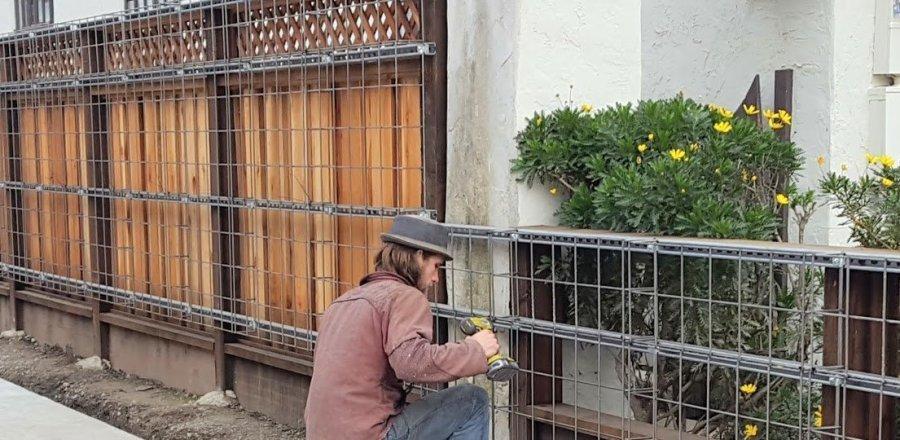 Florafelt Pro System Wire Grid on Unistrut