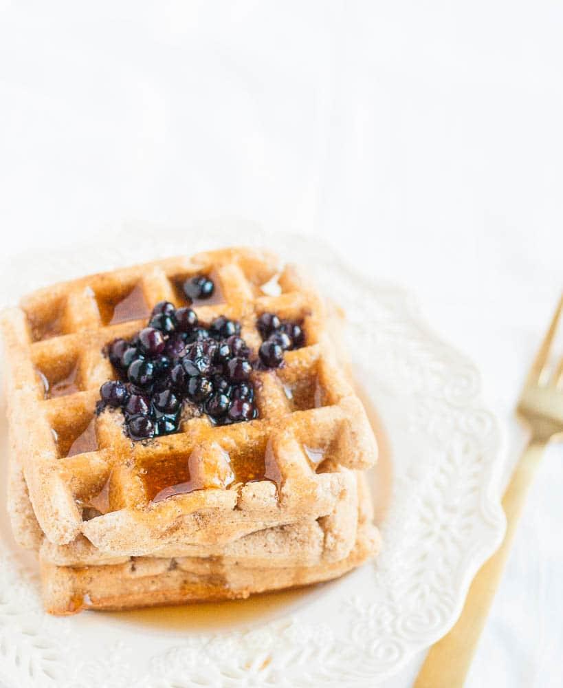 Oil-free Gluten-free Vegan Waffles