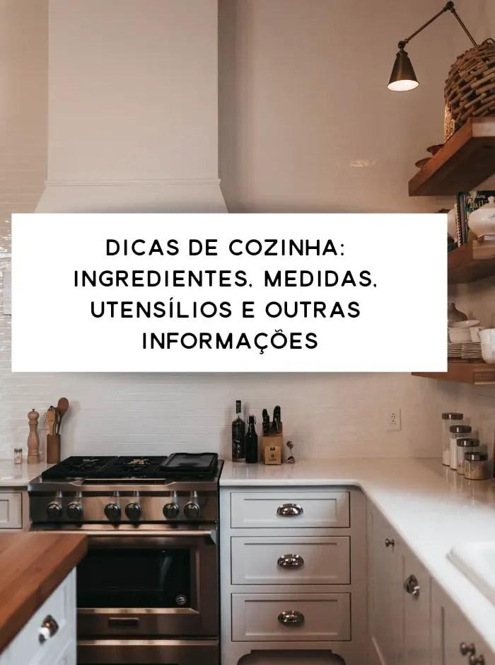 dicas de cozinha sobre utensílios domésticos