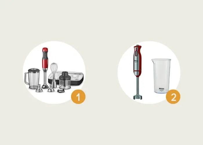 diferentes modelos de mixer de mão